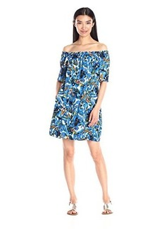Ella moss Women's Tahiti Garden Off-The-Shoulder Dress