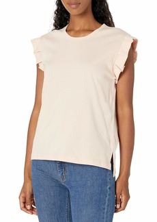 Ella Moss Women's Tandie Ruffle Sleeve Knit Top