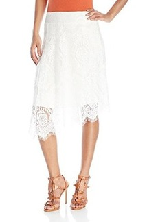 Ella moss Women's the Asymmetrical Lace Hemline Skirt