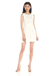 Ella Moss Women's The Gladiator Fit and Flare Rib Detail Dress