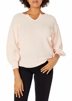 Ella Moss Women's Tina Drop Shoulder Puff Sleeve Sweater