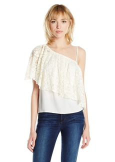 Ella moss Women's Trello Lace One Shoulder Top  S