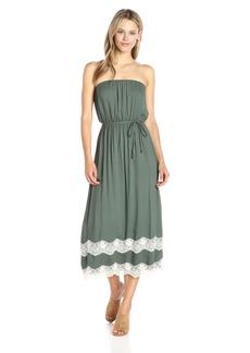 Ella moss Women's Trinity Lace Strapless Dress  L