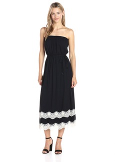 Ella Moss Women's Trinity Lace Strapless Dress  S