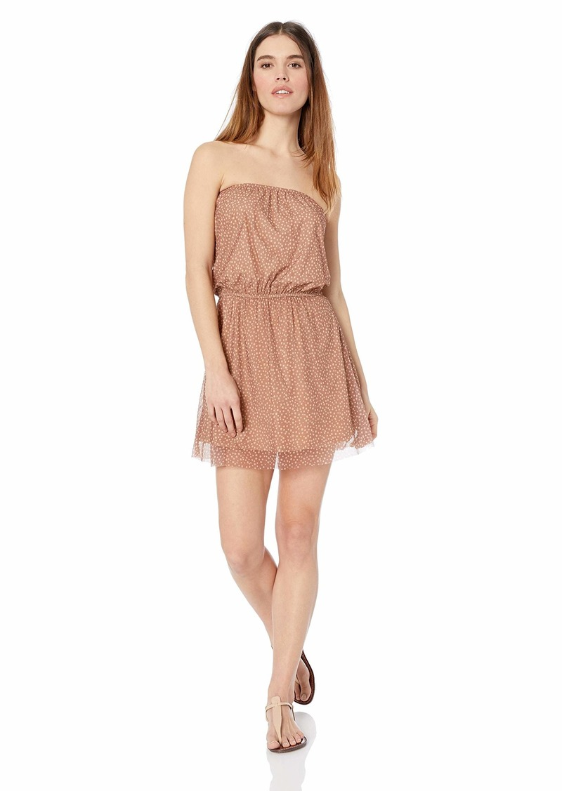 Ella Moss Women's Tube Swimsuit Cover Up Dress Dashing dots Maple