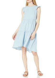 Ella Moss Women's Two Tiered Ruffle High Low Dress