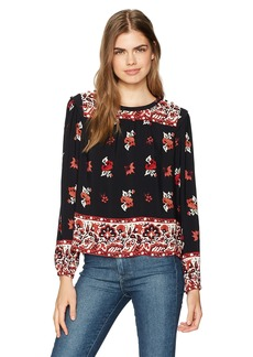 Ella Moss Women's Vintage Floral Long Sleeve Top  L