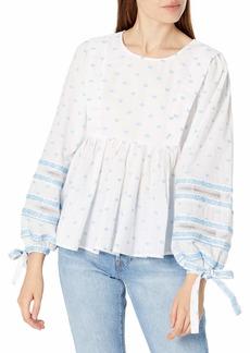 Ella Moss Women's Waverly Puff Long Sleeve Babydoll Style Top  XLarge