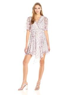 Ella Moss Women's Wayfare Printed Silk Dress  L
