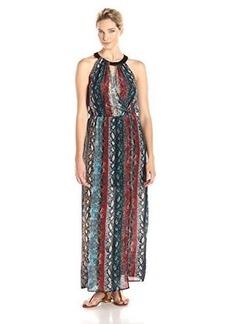 Ella moss Women's Wonderlust Printed Halter Maxi Dress