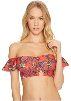 Floral Romance Off Shoulder Bikini Top