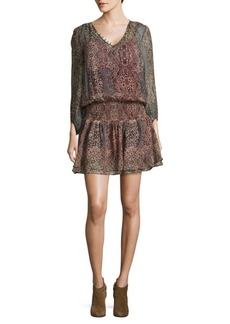 Ella Moss Flouncy Silk Dress