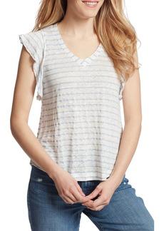 Ella Moss Gemma Stripe Linen Blend Shirt