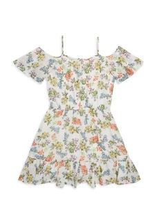 Ella Moss Girl's Cold Shoulder Dress
