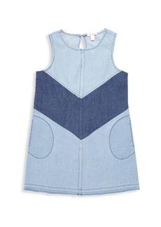 Ella Moss Girl's Colorblock Denim Dress