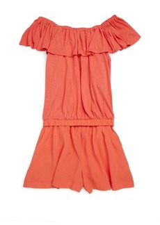 Ella Moss Girl's Open Back Romper
