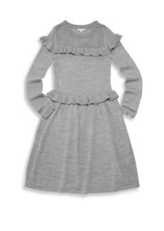 Ella Moss Girl's Ruffle Sweater Dress