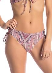Ella Moss Glamping Shirred Print Bikini Bottoms