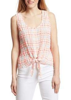 Ella Moss Jennifer Gingham Front Tie Top