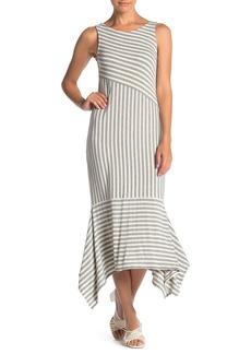 Ella Moss Kaylee Striped Sleeveless Midi Dress
