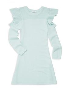 Ella Moss Knit Cold Shoulder A-Line Swing Dress