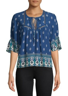 Lace Printed Blouse
