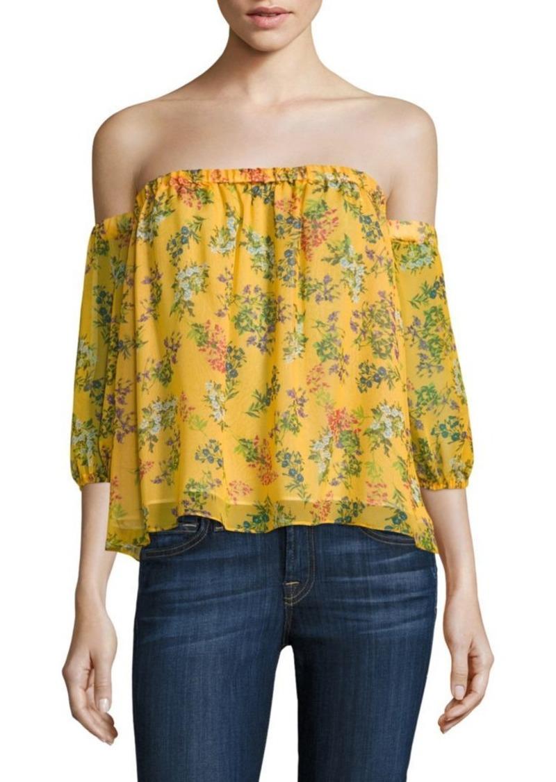 3c563c1d0473d Ella Moss Poetic Garden Silk Off-the-Shoulder Top
