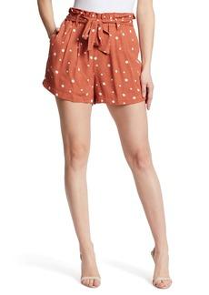 Ella Moss Printed Paper Bag Belted Shorts