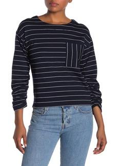 Ella Moss Reese Stripe Ruched Sleeve Shirt