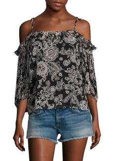 Ella Moss Ria Floral Cold-Shoulder Top