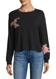 Ella Moss Roseanna Floral Patch Sweatshirt