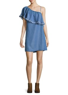 Ella Moss Ruffled Fringe Denim Dress