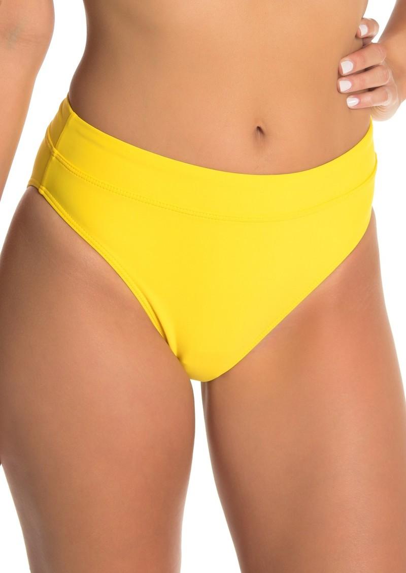 Ella Moss Solid High Waist Bikini Bottom
