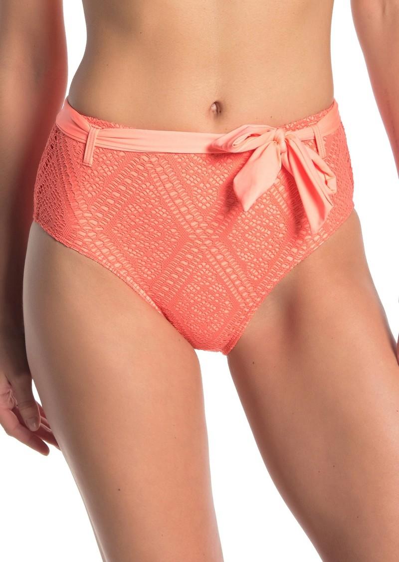 Ella Moss Waist Tie Crochet Bikini Bottoms