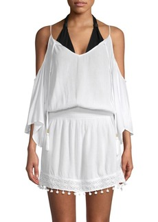 Ella Moss Woven Moments Cold-Shoulder Tunic
