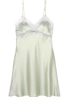 Elle Macpherson Intimates Elle Macpherson Body Lace-trimmed stretch-silk satin chemise