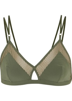 Elle Macpherson Intimates Net mesh-trimmed stretch-jersey soft-cup triangle bra