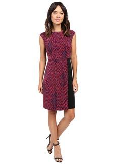 Ellen Tracy Cap Sleeve Knit Dress