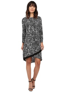 Ellen Tracy Crossover Hem Dress