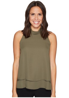 Ellen Tracy Double Layer High Neck Shell