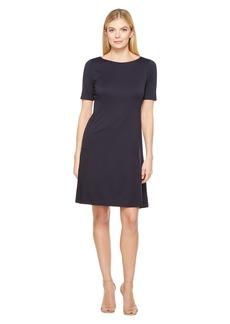 Ellen Tracy Elbow Sleeve Flounce Dress