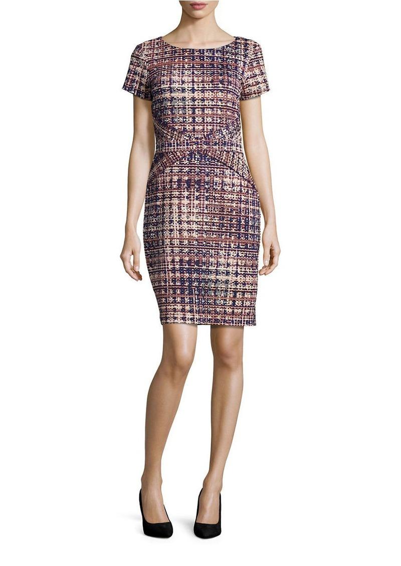 ELLEN TRACY Abstract Short Sleeve Shift Dress