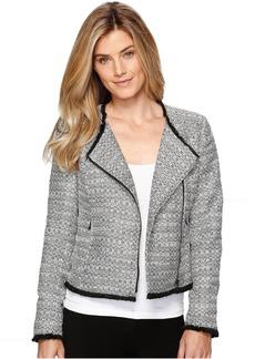 Ellen Tracy Asymmetrical Moto Jacket