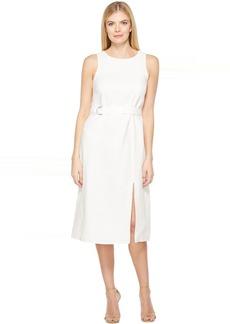 Belted Column Dress