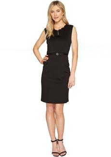 Ellen Tracy Black Dress with Unique Neckline