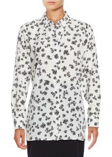 ELLEN TRACY Floral Button-Front Blouse