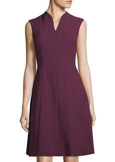 Ellen Tracy Cap-Sleeve Fit-And-Flare Dress