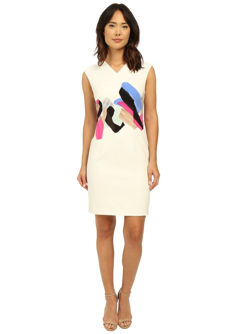 Ellen Tracy Cap Sleeve Fitted Sheath Dress