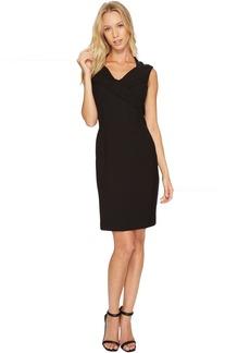 Ellen Tracy Cap Sleeved Bistretch Dress with V-Neck