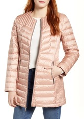 Ellen Tracy Collarless Packable Down Puffer Coat